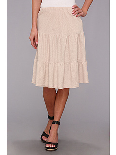 SALE! $29.99 - Save $28 on Allen Allen Slub Tiered Skirt (Sand) Apparel - 48.29% OFF $58.00