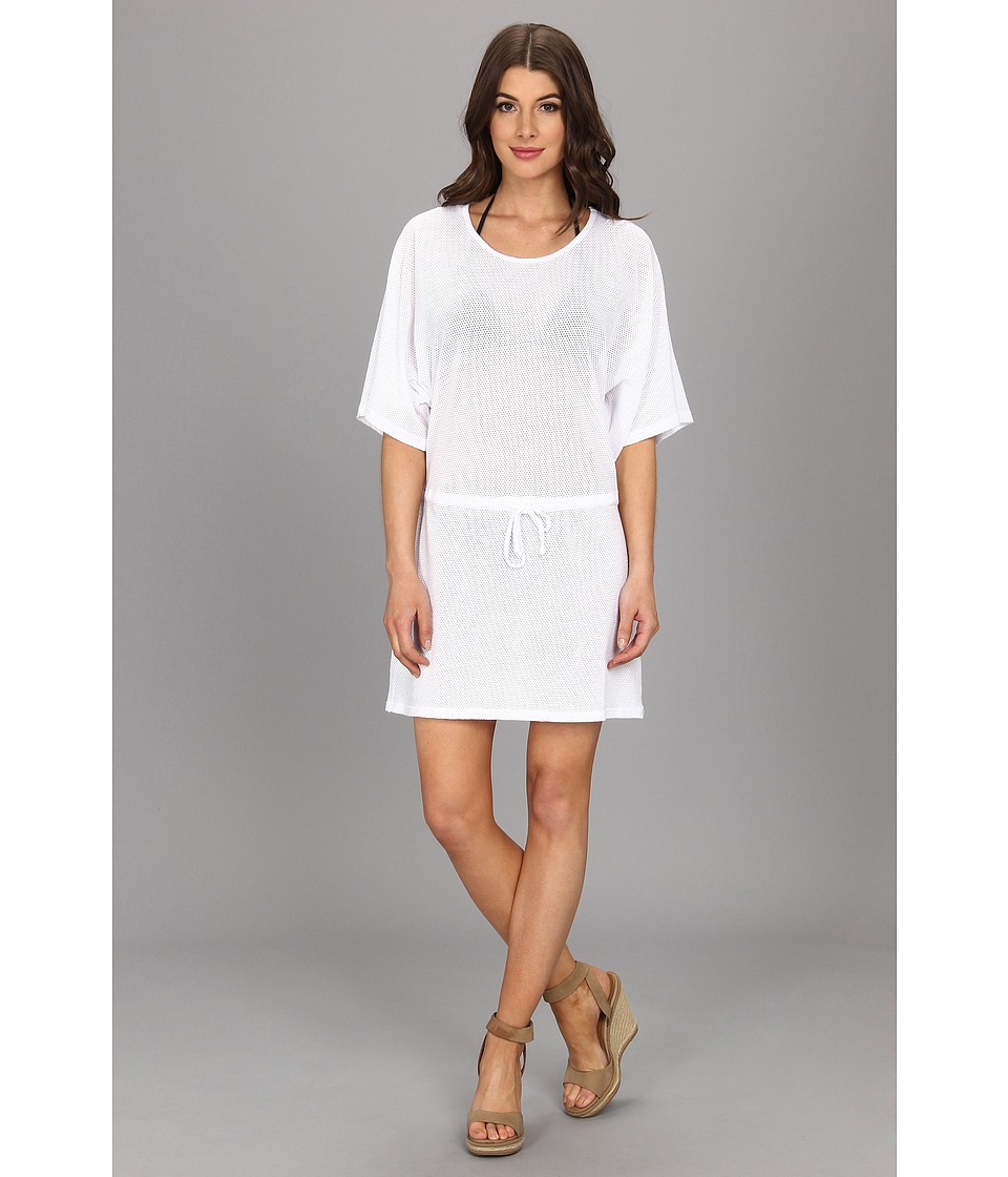 Allen Allen - Mesh Tunic Dress (White) Women's Dress
