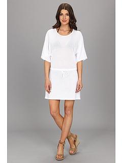 SALE! $49.99 - Save $48 on Allen Allen Mesh Tunic Dress (White) Apparel - 48.99% OFF $98.00