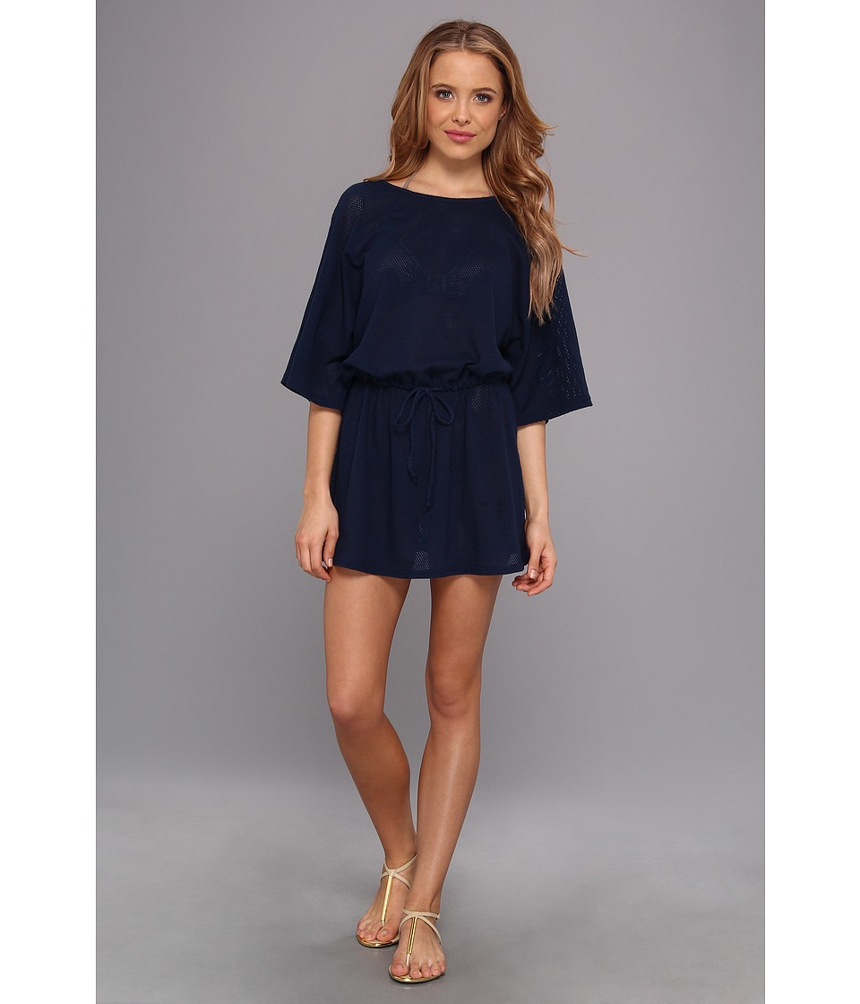 Allen Allen - Mesh Tunic Dress (Lapis) Women's Dress