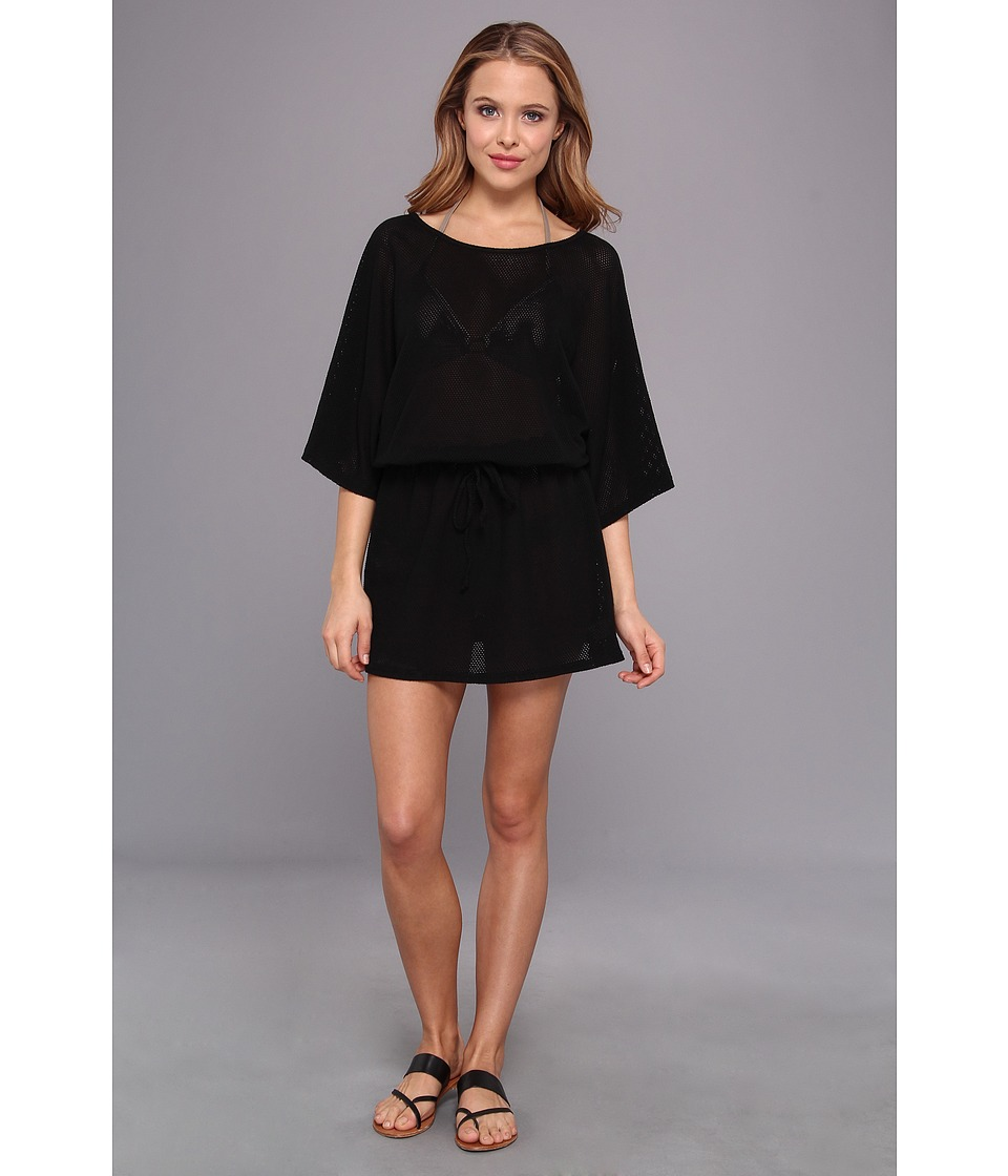 Allen Allen - Mesh Tunic Dress (Black) Women's Dress