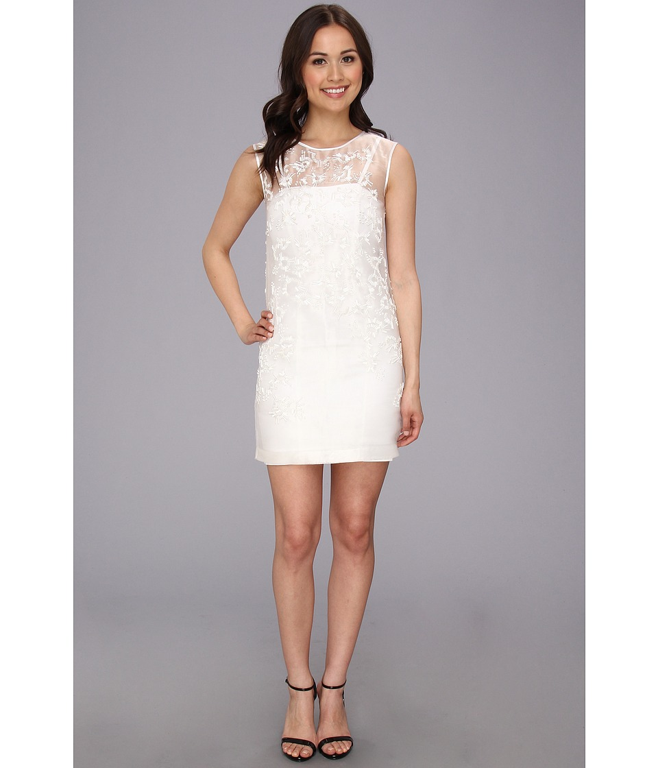 French Connection - Pollen Party 71BBK (White) Women's Dress