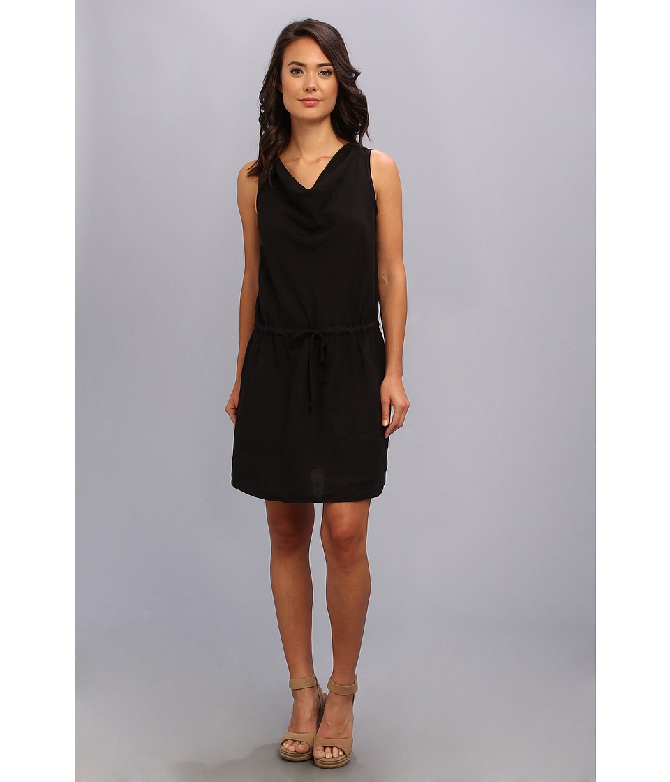 Allen Allen - Cowl Neck Dress (Black) Women's Dress