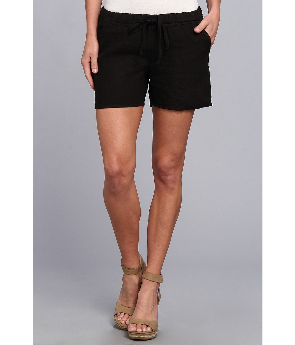 Allen Allen - Drawstring Back Pocket Short (Black) Women's Shorts