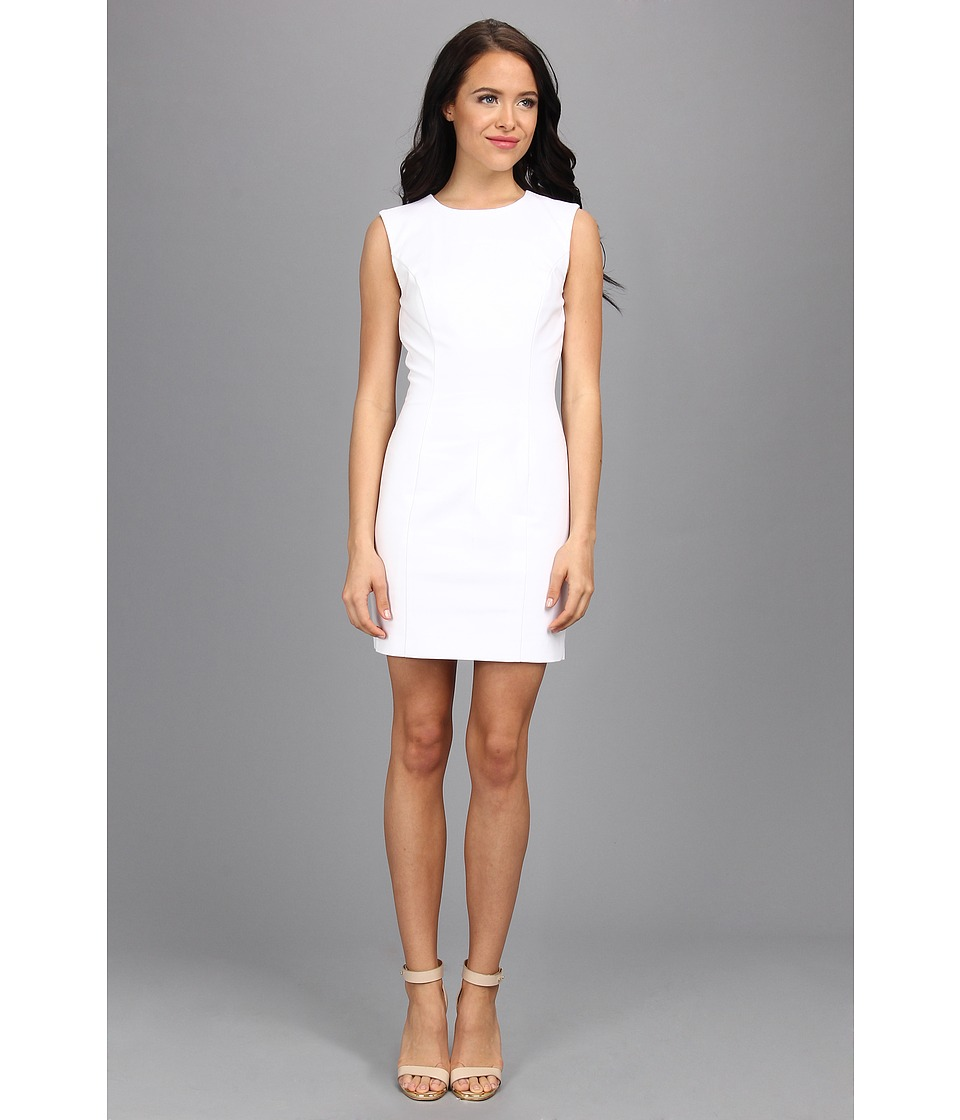 French Connection - Super Strech Solid 71BLN (White) Women's Dress