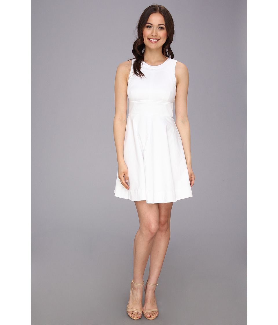 French Connection - Super Chick Solid 71BLJ (White) Women's Dress