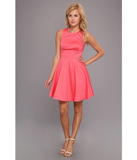 French Connection - Super Chick Solid 71BLJ (Party Pink) Women's Dress