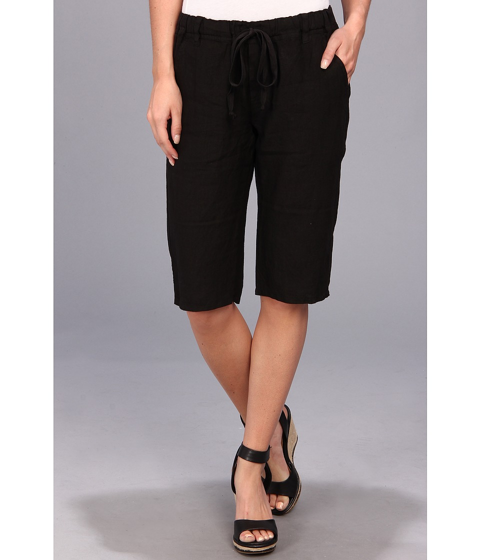 Allen Allen - Trouser Bermuda Short (Black) Women's Shorts plus size,  plus size fashion plus size appare