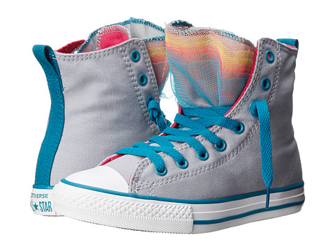 Converse Kids - Chuck Taylor All Star Party Hi (Little Kid/Big Kid) (Lucky Stone) Girl