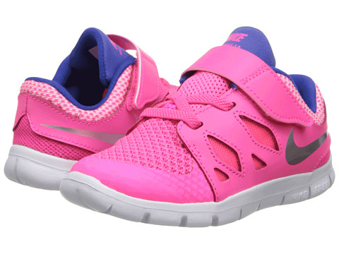 Nike Kids - Free 5 (Infant/Toddler) (Hyper Pink/Game Royal/Deep Royal Blue/Metallic Silver) Girls Shoes
