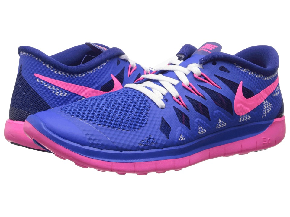 Nike Kids - Free 5.0 (Big Kid) (Hyper Cobalt/Deep Royal Blue/White/Hyper Pink) Girls Shoes