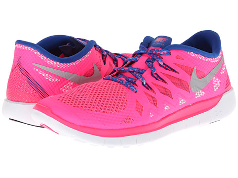 Nike Kids - Free 5.0 (Big Kid) (Hyper Pink/Game Royal/Deep Royal Blue/Metallic Silver) Girls Shoes