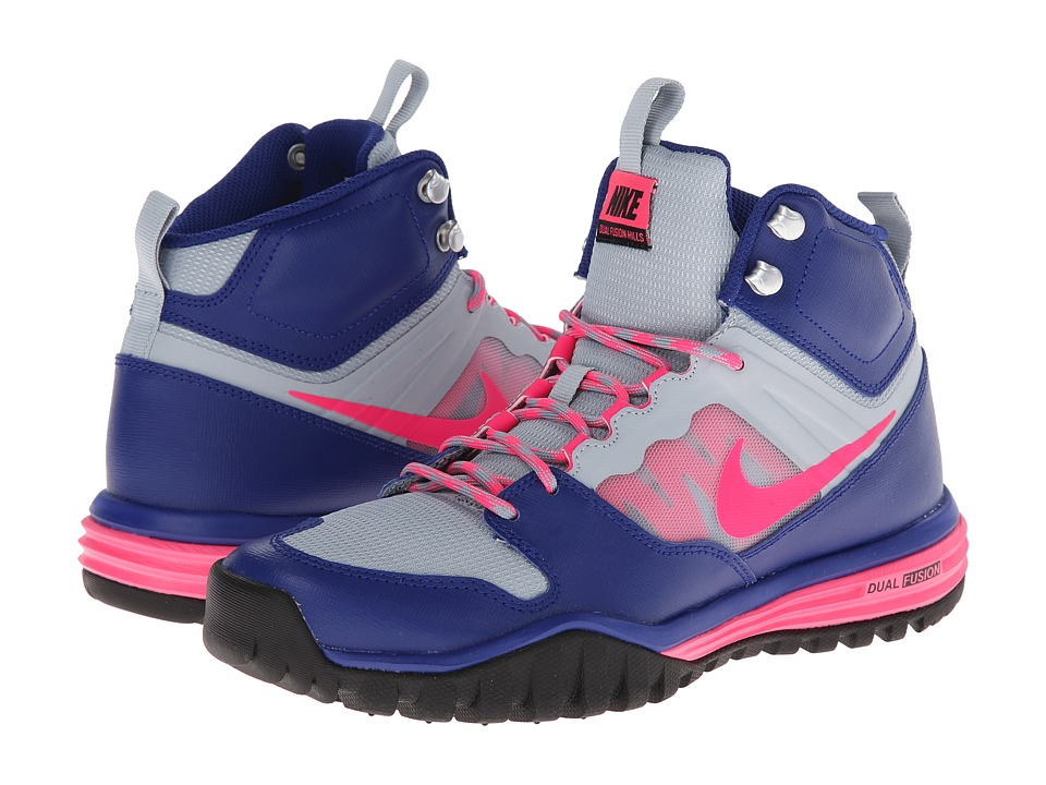 Nike - Dual Fusion Hills Mid (Deep Royal Blue/Light Magnet Grey/Black/Hyper Pink) Women's Shoes