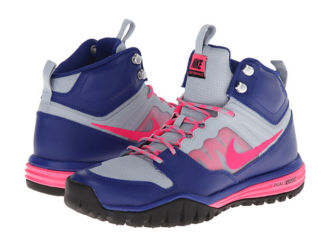 Nike - Dual Fusion Hills Mid (Deep Royal Blue/Light Magnet Grey/Black/Hyper Pink) Women