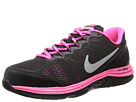 Nike Kids Dual Fusion Run 3 (Big Kid) (Black/Hyper Pink/Metallic Silver)