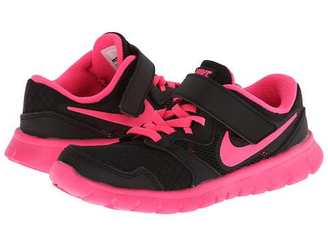 Nike Kids - Flex Experience 3 (Little Kid) (Black/Hyper Pink) Girls Shoes