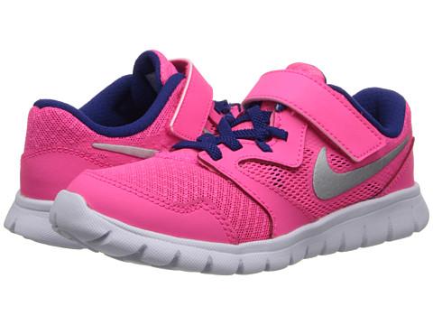 Nike Kids - Flex Experience 3 (Little Kid) (Hyper Pink/Deep Royal Blue/White/Metallic Silver) Girls Shoes