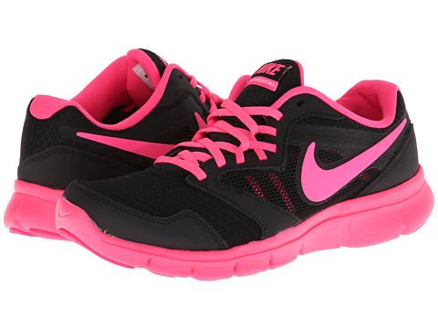Nike Kids - Flex Experience 3 (Big Kid) (Black/White/Hyper Pink) Girls Shoes