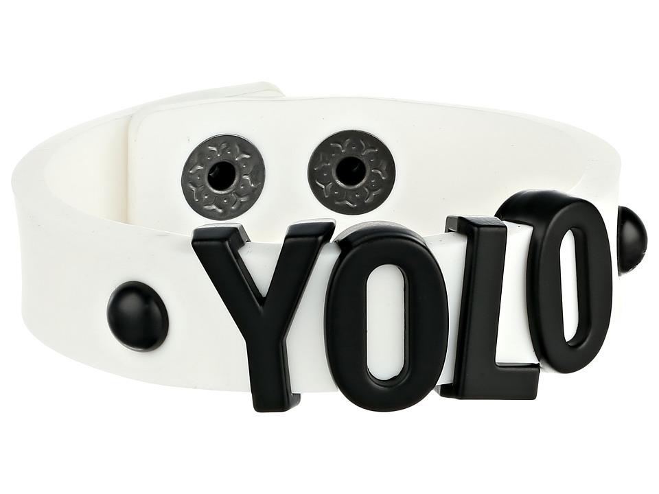 BCBGeneration - Jelly Affirmation Bracelet (YOLO/Black/White) Bracelet