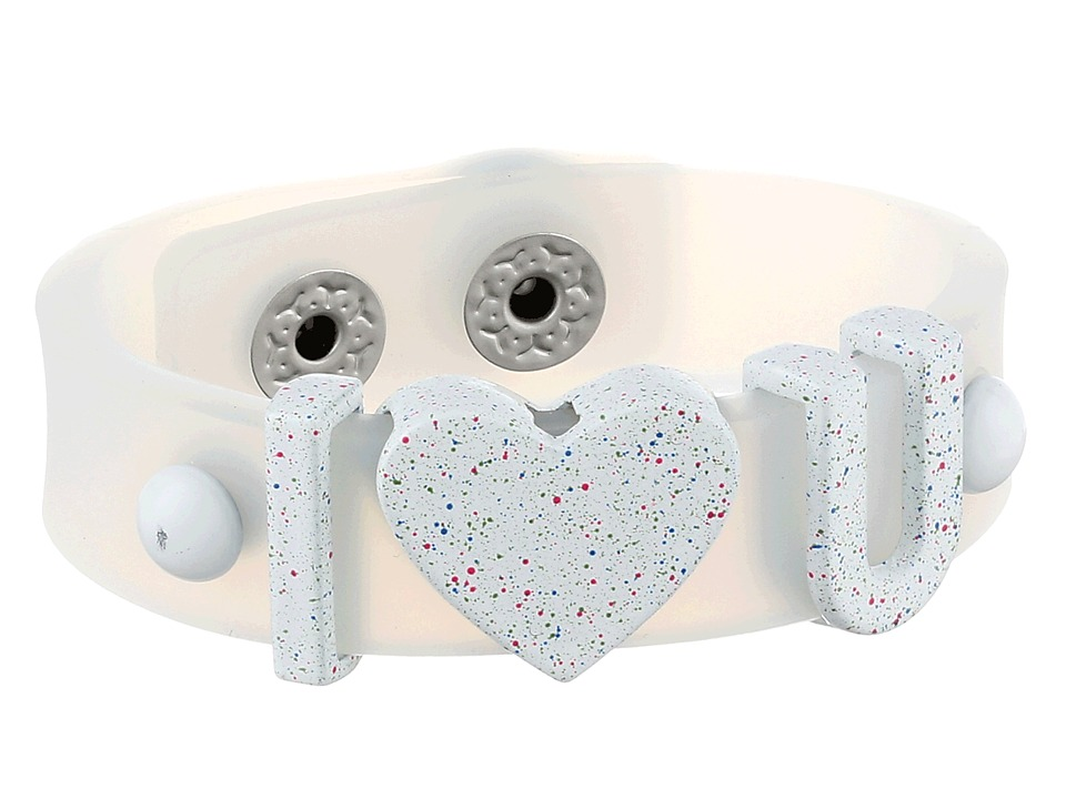 BCBGeneration - Jelly Affirmation Bracelet (I Heart U/Splatter/Clear) Bracelet