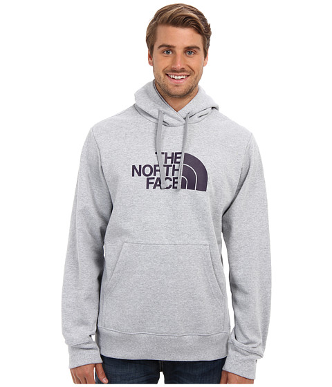 The North Face - Half Dome Hoodie (Heather Grey/Dark Eggplant Purple) Men's Long Sleeve Pullover