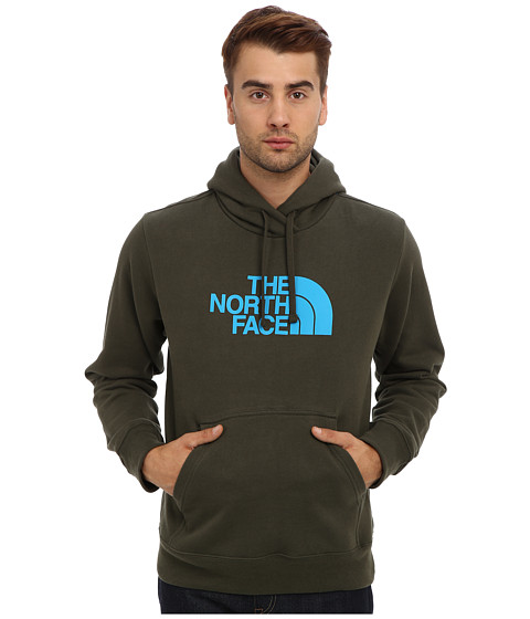 The North Face - Half Dome Hoodie (Forest Night Green/Meridian Blue) Men's Long Sleeve Pullover