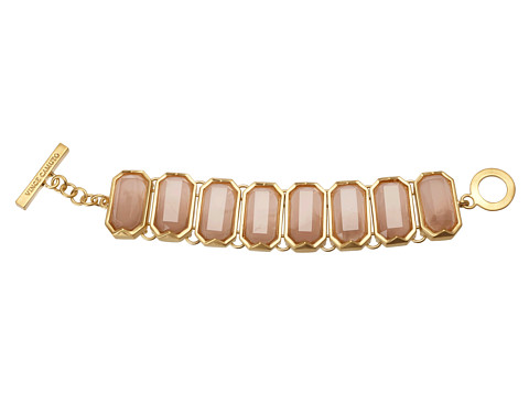 Vince Camuto - Ethereal Statement LinkToggle Bracelet (Brushed Gold/Peach Ombre) Bracelet