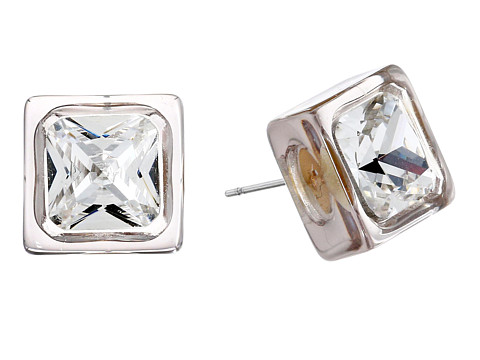 Vince Camuto - Lucid Dreams Crystal Stud Earrings (Brushed Gold/Light Grey Transparent Resin/Crystal) Earring
