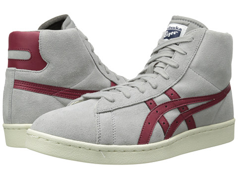 Onitsuka Tiger by Asics - Fabre DC-L (Light Grey/Burgundy) Lace up casual Shoes