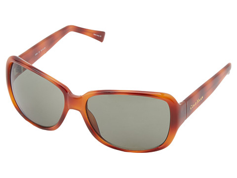 Cole Haan - C630 (Honey Tortoise) Plastic Frame Fashion Sunglasses