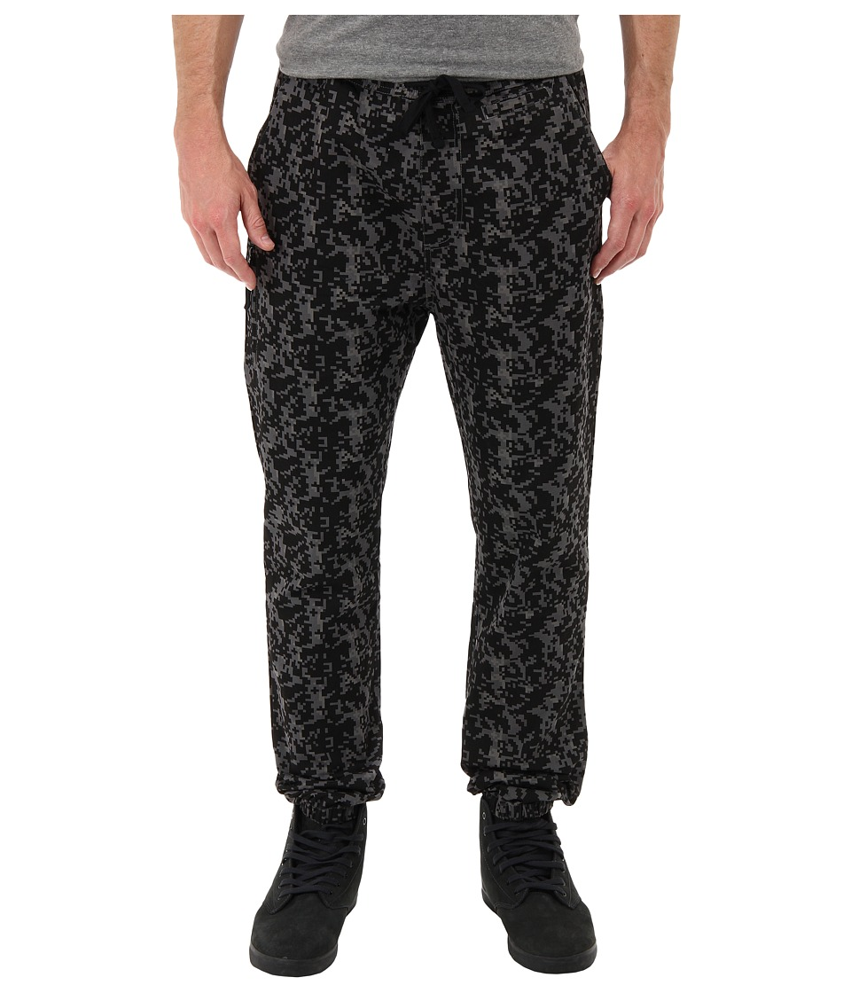 Crooks & Castles - Digi Camo Woven Pants (Black Digi Camo) Men's Casual Pants
