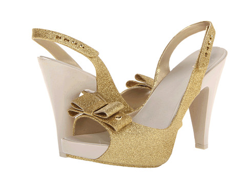 Melissa Shoes - Sky Glitter (Gold Glitter) High Heels