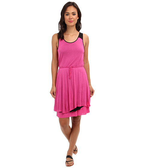 kensie - Sheer Viscose Tee Dress KS6K9955 (Bold Pink Combo) Women's Dress