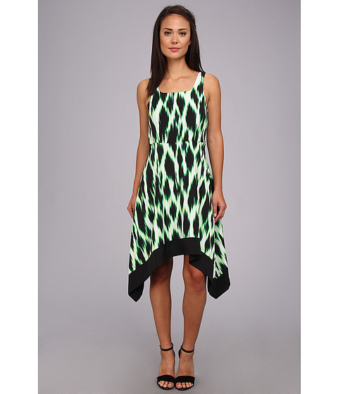 kensie - Streaked Spots Dress KS6K9981 (Shamrock Combo) Women's Dress