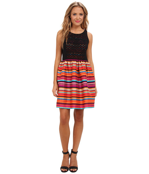 kensie - Varied Stripes Dress KS7K7034 (Orange Pop Combo) Women's Dress
