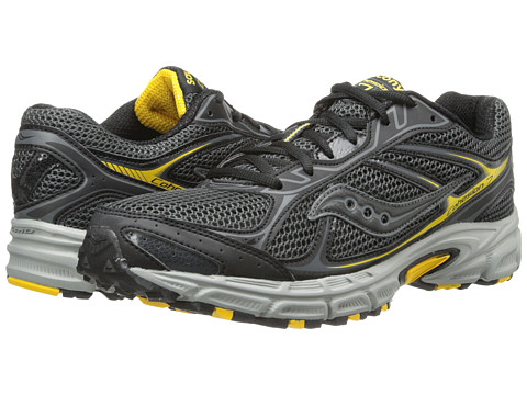 Saucony - Cohesion TR7 (Black/Grey/Yellow) Men's Shoes