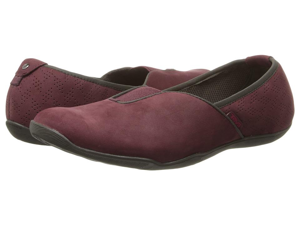 Teva - Niyama Slip-On (Burgundy) Women's Slip on Shoes