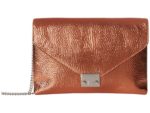 Loeffler Randall - Lock Clutch (Copper Pebble Metallic Nappa Leather) Clutch Handbags