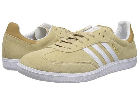 adidas Originals - Samba (St Stone Khaki/Core White/Gold Metallic) Men