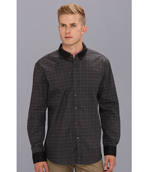 Marc Ecko Cut & Sew - Wales L/S Shirt (Black) Men's Long Sleeve Button Up