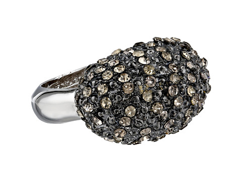 Vince Camuto - Pave Luxe Links Hematite Adjustable Ring (Light Rhodium/Hematite/Black Diamond) Ring