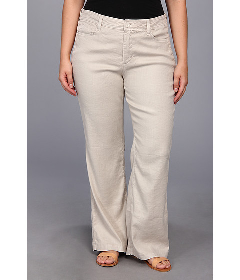 NYDJ Plus Size - Plus Size Wylie Trouser Linen-Blend (Sand Dollar) Women's Casual Pants