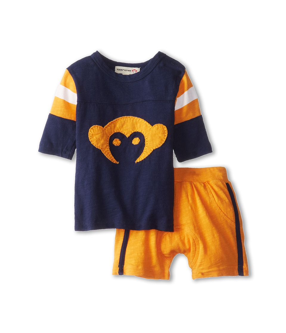 Appaman Kids - Super Soft Retro Hockey Jersey and Track Short Set (Infant) (Galaxy) Boy