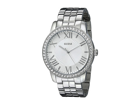 GUESS - U0329L1 (Silver/Crystal/White) Watches