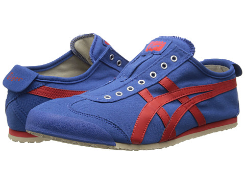 Onitsuka Tiger by Asics - Mexico 66 Slip-On (Blue/Fiery Red) Shoes