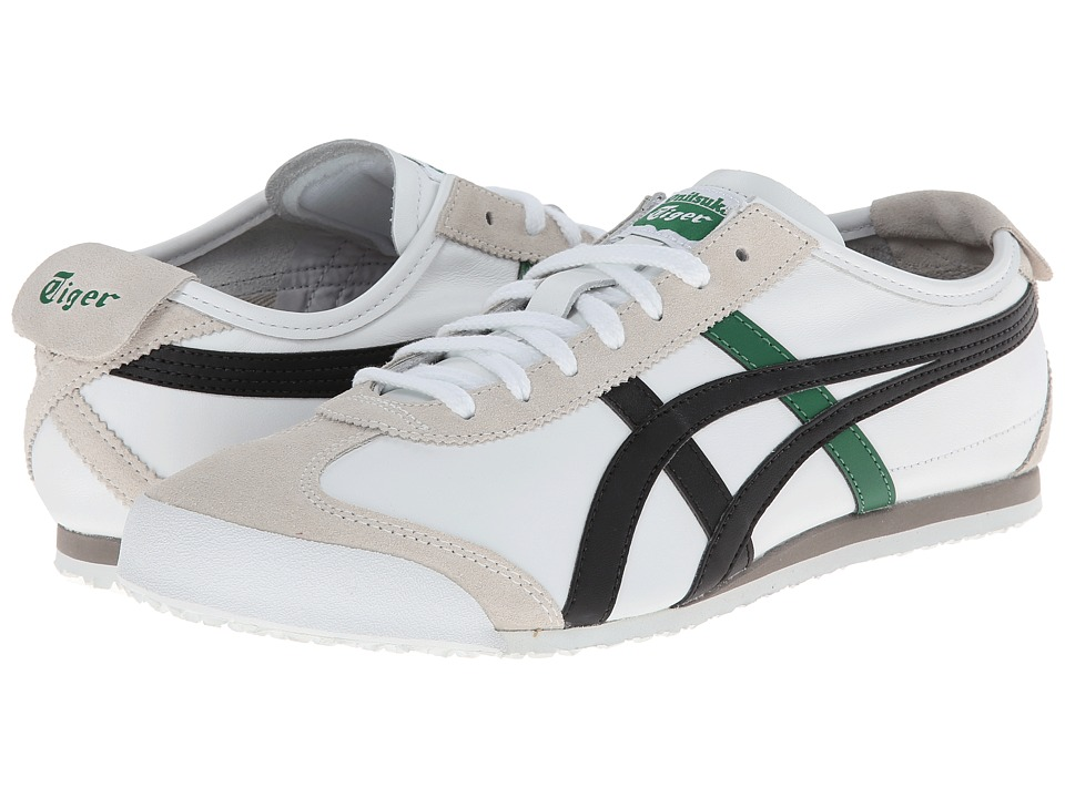 Onitsuka Tiger by Asics - Mexico 66 (White/Black/Green) Shoes