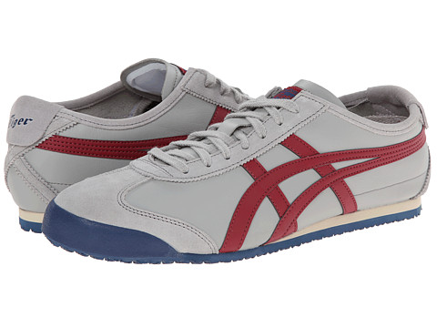 Onitsuka Tiger by Asics - Mexico 66 (Light Grey/Burgundy) Shoes