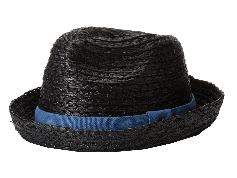 Appaman Kids - Classically Cool Summer Fedora (Infant/Toddler/Little Kids/Big Kids) (Black) Fedora Hats