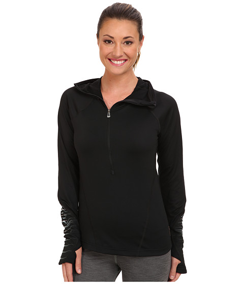 New Balance - HKNB Run Half Zip (Black/Black Print) Women's Long Sleeve Pullover