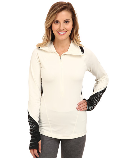 New Balance - HKNB Run Half Zip (Mother Of Pearl/Black Print) Women's Long Sleeve Pullover